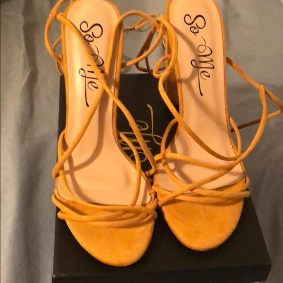 """b4ea694ab84 Fashion Nova """"Wrap Her Up Heeled Sandal"""""""